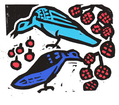 Birds & beasts, a story in XVI linocuts by Joanna Hill & Sarah Hill