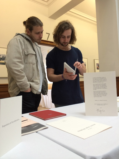 AMBruno: words at 19th International Contemporary Artists' Book Fair, Leeds, 2016